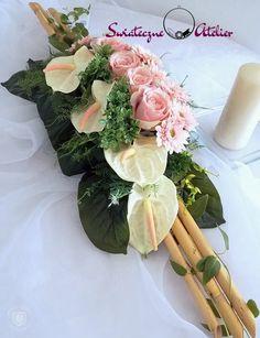 Dekoracja kwiatowa/stroik z anturium nr. Funeral Flowers, Ants, Vence, Christmas Decorations, Gerbera, Vegetables, Diy, Wedding, Food