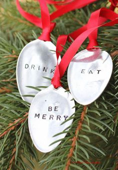 HEATHER... this is for you!!!  Vintage spoon ornaments