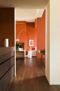 Interior designers wish paint colors like tangerine would go away since this color doesn't complement anyone or anything.