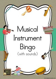 Using the same sounds as the Musical Instrument Sort (see my other free listed resource), students identify the sound that is being made and joins in with a fun game to promote listening skills.Each student requires one bingo card, and 6 counters.The teacher randomly play one of the 9 instrumental noises provided and allows sufficient time for students to place a counter over the top of the corresponding instrument.
