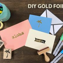 たった5分で美しいゴールドプリント!箔押しサンキューカードを簡単DIY|by ARCH DAYS編集部