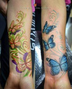 rose butterfly wrist tattoo cover up - Google Search