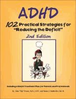 """ADHD : 102 practical strategies for reducing the deficit  by Kim """"Tip"""" Frank and Susan J. Smith-Rex."""