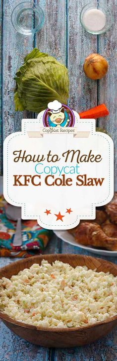 Recreate KFC cole slaw when you make it from scratch.  This recipe is so simple to make.  You will love this salad recipe, it's perfect for your next family dinner or barbeque.