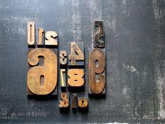 letterpress numbers / wood printing blocks