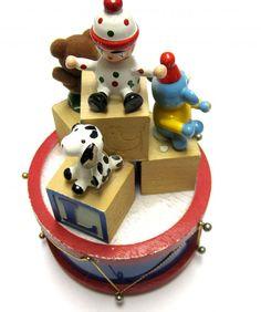 Vintage Baby Block Music Box Wooden Blocks by sweetie2sweetie, $8.99