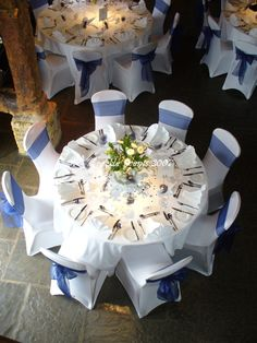 Simple with a pop of color....option A for set up on chair and table covers.