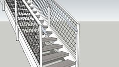 Large preview of 3D Model of Stairs
