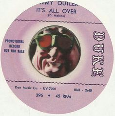 JIMMY OUTLER IT'S All Over NORTHERN SOUL R&B PROMO 45 RPM RECORD NM-