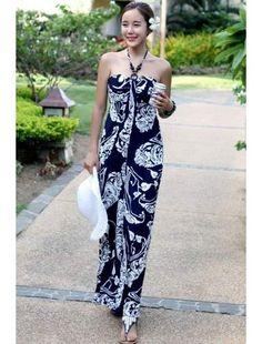 Halter neck maxi dress online india