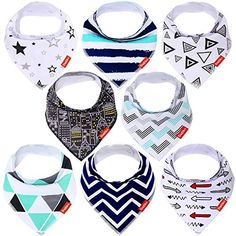 Baby Bandana Drool Bibs  8 Pack Unisex Organic Cotton Soft and Absorbent Baby Bibs for Drooling and Teething Excellent Gift Set for Boys and Girls *** To view further for this item, visit the image link.-It is an affiliate link to Amazon.