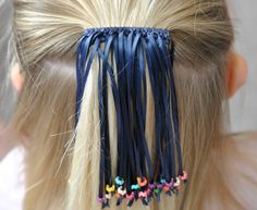 Highlights: Beaded One Color Ribbon Barrette A new twist on the classic ribbon barrette. These are great cheerleading squad gifts and can be custom made with any school colors. Made with sturdy me Diy Hair Accessories Tutorial, Girls Hair Accessories, Ribbon Barrettes, Hair Barrettes, Hair Ribbons, Ribbon Hair, Ribbon Flower, Fabric Flowers, Hair Bow Tutorial