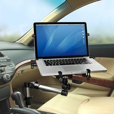The Foldaway Automobile Laptop Mount - Hammacher Schlemmer