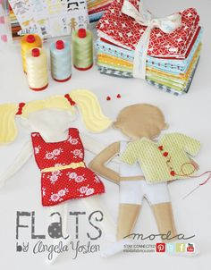 New! Flats Dolls and Doll Clothes Patterns from Angela Yosten for MODA #kids #craft #sewing #project Find it at Ben Franklin in Monroe, WA!