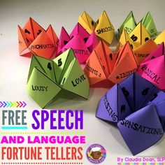 Sign up to receive exclusive tips and FREEBIES including Speech and Language Fortune Tellers here!