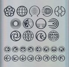 World Symbols font - Epcot symbols font - by David Occhino Design