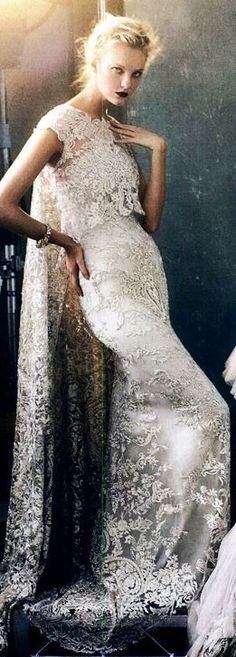 Stunning all beaded bridal gown <3