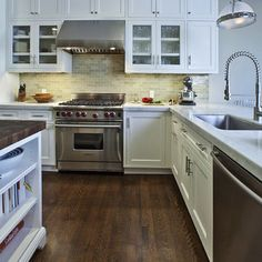 Hardwood in the kitchen...getting more popular.