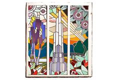 Art Deco Stained Glass Panels I on OneKingsLane.com