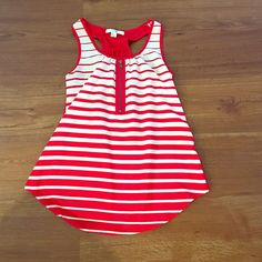 Red stripped tank top Red and white stripped tank top from Forever 21. Size small, excellent condition. Perfect for summer and July 4th! Forever 21 Tops Tank Tops