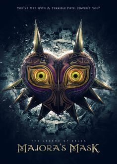 A variation of my previous Legend of Zelda inspired art/painting of Majora's Mask as an epic teaser/film poster.