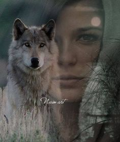 Photo Illustration, Digital Illustration, Husky, Wolves And Women, Double Exposition, Illusion Art, Double Exposure, Photo Manipulation, Artist Art