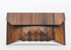 Wood Clutch // TIGER ROSE by TeslerMendelovitch
