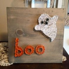 DIY Halloween Ghost String Art from MichaelsMakers Sugarbee Crafts