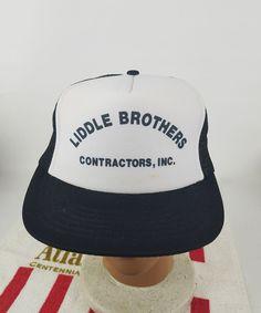 25087953b41 VTG LIDDLE BROTHERS CONTRACTORS MESH TRUCKER HAT CAP DA Snapback  DA   TruckerHat