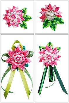 Flower ornaments perler beads