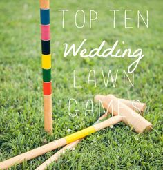 Lawn Games for Reception - For guests in between ceremony and reception while wedding photos are being taken.