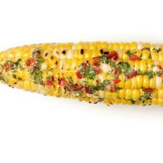 Corn on the Cob with Spicy Cilantro Butter