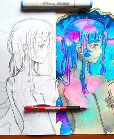 +Manga Eye Expressions+ by larienne on DeviantArt Copic Drawings, Anime Drawings Sketches, Beautiful Artwork, Cool Artwork, Copic Marker Art, Copic Art, Pretty Drawings, Copics, Manga Art