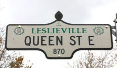Leslieville is beautiful area in the East end of Toronto