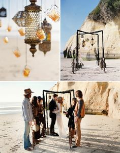 "If I ever decide to get married... this is pretty close to my ""dream wedding"". A boho beach feel, amongst only very close loved ones."