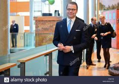 Berlin, Germany. 11th Apr, 2016. Prince Daniel of Sweden visits the exhibition 'Frech, wild und wunderbar. Schwedische Kinderbuchwelten' (lit. 'Cheeky, wild and wonderful. Swedish children's book worlds') at the Swedish embassy in the Nordic embassies in Berlin, Germany, 11 April 2016. PHOTO: BRITTA PEDERSEN/dpa/Alamy Live News Stock Photo
