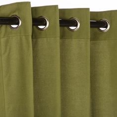 Pawley's Island Canvas Turf Sunbrella Grommet Top Outdoor Rated Curtains.  Three Sizes --  Start  At $99.99 @ WholesaleParioStore.com