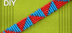 How to make a Macrame bracelet with Triangles. This Triangle Friendship Bracelet made by using Cavandoli technique. Cavandoli macramé is a ancient art of knotting by hand, used to form geometric patterns and free-form patterns like weaving. Video: . Source: http://www.youtube.com/user/MacrameSchool