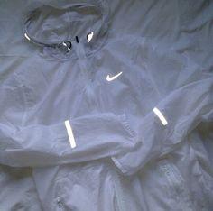 jacket nike 3m white mike jacket coat shiny windbreaker cute light running joggers sportswear rain reflection reflector nike jacket sheer nude lingerie diamonds jewels bra undies style