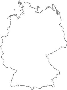 germany outline | germany outline map