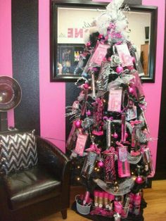 Hang products to sell right from your christmas tree. It will definitely get customers looking.