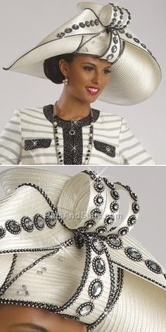DonnaVinci Couture HATS Style H2188 Fall & Holiday 2014. Hats & Suits.com - USD $159.00