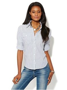 Spring Street Striped Shirt from New York & Company
