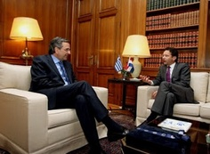 O πρόεδρος του Eurogroup, Γ.Ντάισελμπλουμ στην Αθήνα