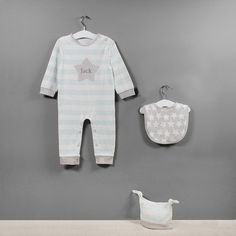 Three Piece Applique Star Baby Clothes Set for Max?!