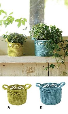 Flower Pot Cozy - free crochet pdf pattern