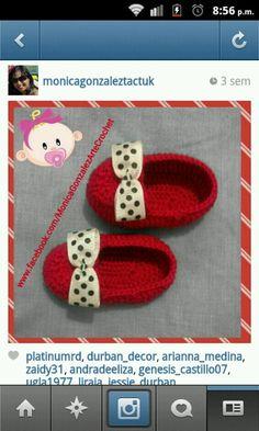 Zapatos bebe crochet