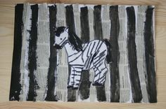zebra na pasach praca plastyczna
