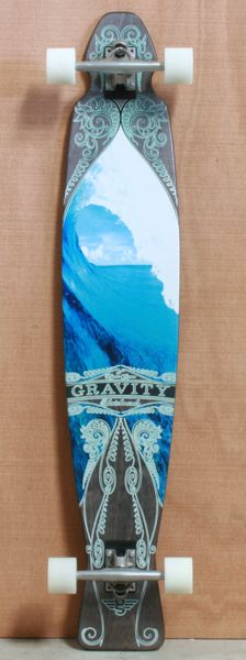 "Gravity 47"" Blue Curtain Longboard Complete"