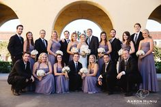 Wedding Party at Liberty Station in Point Loma, San Diego, CA   Aaron Huniu Photography   #purple #weddingparty #weddings